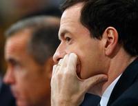 El ministro de Hacienda británico, George Osborne, durante una reunión anual del FMI en Washington. Imagen de archivo, 10 octubre, 2014. El estancamiento en la zona euro, la recesión en Japón y las crisis geopolíticas han incrementado la preocupación acerca del estado de la economía global, afirmó el viernes el ministro de Hacienda británico, George Osborne. REUTERS/Jonathan Ernst