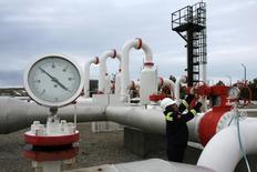 Газокомпрессорная станция компании Petroleum and Pipeline Corporation в Турции 5 января 2009 года. Турция ждёт скидки на российский газ, получаемый от Газпрома по трубопроводу Голубой поток, чтобы увеличить поставки, сказал министр энергетики Турции Танер Йылдыз после заседания межправительственной российско-турецкой комиссии по торгово-экономическому сотрудничеству. REUTERS/Umit Bektas