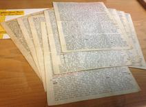 An 18-page letter written by Beat-era icon Neal Cassady, which transformed Jack Kerouac's writing style, is shown in San Francisco, California, December 1, 2014. REUTERS/Deepa Seetharaman