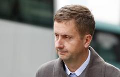 Former ICAP broker Colin Goodman leaves Southwark Crown Court in London, December 5, 2014. REUTERS/Suzanne Plunkett