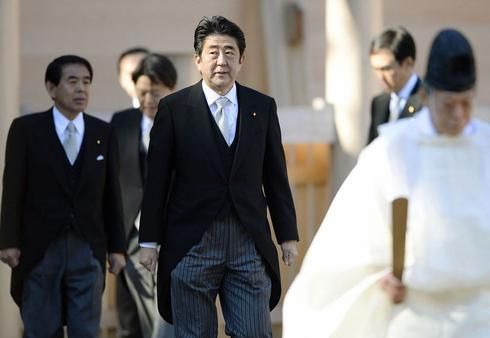 Japan PM Abe's base aims to restore past religious, patriotic values