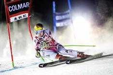 Austria's Marcel Hirscher competes during the first run of the men's giant slalom event during the FIS Ski World Cup in Are, December 12, 2014. REUTERS/Marcus Ericsson/TT News Agency