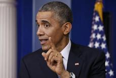 Presidente dos Estados Unidos, Barack Obama, durante entrevista coletiva na Casa Branca, em Washington. 19/12/2014 REUTERS/Kevin Lamarque