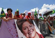 Público perto do Palácio do Planalto, em Brasília. 1/1/2015 REUTERS/Sergio Moraes