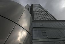 General view of the headquarters of the European Central Bank (ECB) in Frankfurt October 26, 2014.  REUTERS/Ralph Orlowski