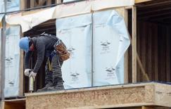 Homes undergo construction in Toronto, February 25, 2014. REUTERS/Aaron Harris