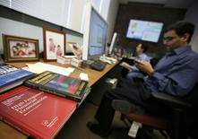 Manoj Narang, founder and CEO of Tradeworx, sits in his company's office in Red Bank, New Jersey in this picture taken November 17, 2009. REUTERS/Mike Segar