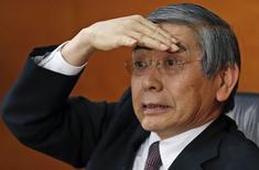 Presidente do BC japonês, Haruhiko Kuroda, em entrevista coletiva em Tóquio. 21/01/2015 REUTERS/Toru Hanai