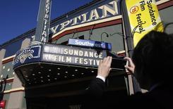 Fachada do cinema em que foi realizada a abertura do Festive de Cinema de Sundance, em Park City, no Estado de Utah, EUA. 21/01/2015.  REUTERS/Jim Urquhart