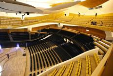A general view shows the interior of the new Paris Philharmonic Hall (Philharmonie de Paris) by French architect Jean Nouvel January 22, 2015.  REUTERS/Charles Platiau