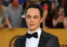 "Actor Jim Parsons of the CBS series ""The Big Bang Theory"" poses on arrival at the 21st annual Screen Actors Guild Awards in Los Angeles, California January 25, 2015.  REUTERS/Mike Blake"