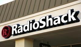 The sign outside the RadioShack store is seen in Westminster, Colorado December 11, 2014.  REUTERS/Rick Wilking