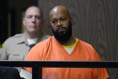 Rap mogul Suge Knight stands in court during his arraignment on murder charges at the Compton Courthouse in Compton, California February 3, 2015. REUTERS/Paul Buck/Pool