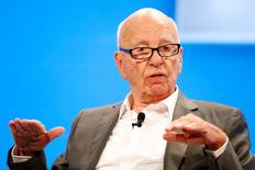 Rupert Murdoch, Executive Chairman News Corp and Chairman and CEO 21st Century Fox speaks at the WSJD Live conference in Laguna Beach, California in this file photo from October 29, 2014. REUTERS/Lucy Nicholson/Files