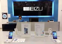 Alibaba Group Holding a pris une participation minoritaire de 590 millions de dollars (521 millions d'euros) dans le fabricant chinois de smartphones Meizu Technology. Meizu est un petit fabricant, non coté, avec une part de marché de moins de 2% sur un marché chinois dominé par Xiaomi, Huawei Technologies, Lenovo Group et les multinationales Apple et Samsung Electronics. /Photo prise le 16 juin 2014/REUTERS