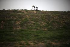 Станок-качалка на нефтяном месторождении в Калифорнии. 17 января 2015 года. США останутся мировым лидером по росту добычи нефти до 2020 года, несмотря на падение цен, прогнозирует Международное энергетическое агентство (IEA). REUTERS/Lucy Nicholson