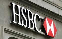 Logo do banco HSBC em agência em Zurique. 09/02/2015 REUTERS/Arnd Wiegmann
