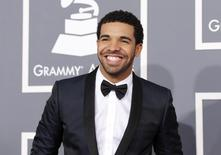 Rapper Drake arrives at the 55th annual Grammy Awards in Los Angeles, California February 10, 2013.  REUTERS/Mario Anzuoni