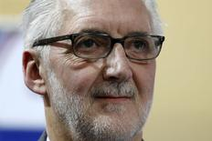 Britain's Brian Cookson, President of International Cycling Union (UCI) attends the UCI Track Cycling World Cup in Saint-Quentin-en-Yvelines, near Paris, February 22, 2015.  REUTERS/Charles Platiau