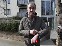 Television presenter Jeremy Clarkson leaves an address in London, March 11, 2015.  Britain's BBC said on Tuesday it had suspended Jeremy Clarkson, the presenter of the globally popular 'Top Gear' show, after he was involved in a fracas with one of the broadcaster's producers. REUTERS Peter Nicholls