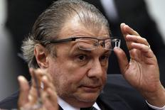 Ex-gerente da Petrobras Pedro Barusco na CPI, em Brasília. 10/3/2015 REUTERS/Ueslei Marcelino