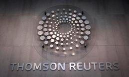 El edificio corporativo de Thomson Reutersen Times Square, Nueva York, oct 29 2013. Los sitios de noticias en internet de Reuters en China, que incluyen información en inglés y chino, estuvieron inaccesibles el viernes en el país asiático, después de que los usuarios experimentaran las primeras dificultades para acceder a última hora del jueves.     REUTERS/Carlo Allegri