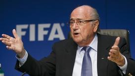 Presidente da Fifa Joseph Blatter concede entrevista em Zurique. 20/03/2015. REUTERS/Arnd Wiegmann