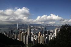 The Hong Kong skyline is seen from the Peak June 18, 2013. REUTERS/Bobby Yip