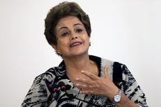 Presidente Dilma Rousseff  no Palácio do Planalto. 24/3/2015 REUTERS/Ueslei Marcelino
