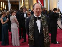 """Composer Hans Zimmer, nominated for best original score for the movie """"Interstellar,"""" arrives at the 87th Academy Awards in Hollywood, California February 22, 2015.  REUTERS/Robert Galbraith"""