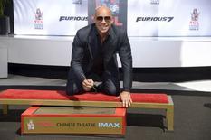 Vin Diesel durante cerimônia no Teatro Chinês, em Los Angeles.  01/04/2015   REUTERS/Phil McCarten