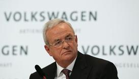 Volkswagen Chief Executive Martin Winterkorn speaks at the annual news conference of Volkswagen in Berlin March 12, 2015.   REUTERS/Fabrizio Bensch