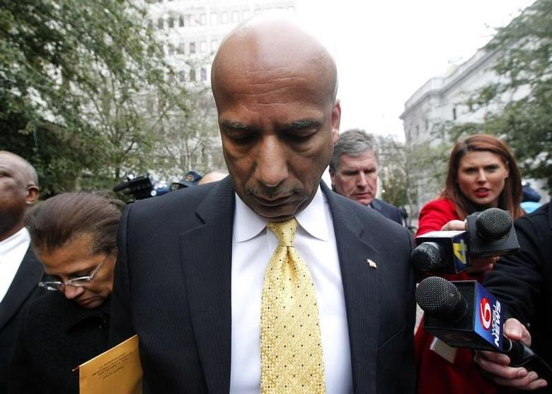 Former New Orleans Mayor Ray Nagin leaves the courthouse after being found guilty on graft charges in New Orleans, Louisiana February 12, 2014. REUTERS/Jonathan Bachman