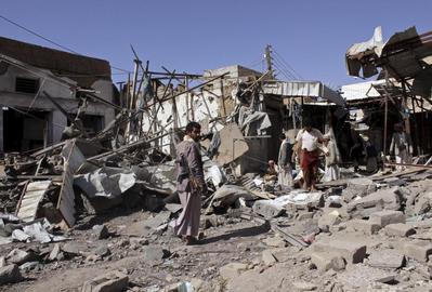 Air strikes in Yemen