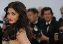 "Bollywood actress Aishwarya Rai poses on the red carpet as she arrives for the screening of the film ""Deux jours, une nuit"" (Two Days, One Night) in competition at the 67th Cannes Film Festival in Cannes May 20, 2014.   REUTERS/Regis Duvignau/Files"