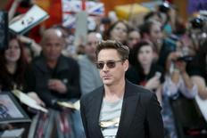 """Downey Jr. em lançamento europeu de """"Vingadores"""" em Londres. 21/04/2015. REUTERS/Stefan Wermuth"""