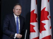 Bank of Canada Governor Stephen Poloz arrives at a news conference upon the release of the Monetary Policy Report in Ottawa April 15, 2015. REUTERS/Chris Wattie