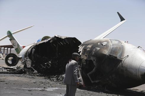 Yemen airport bombed