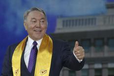 Президент Казахстана Нурсултан Назарбаев 27 апреля 2015 года. REUTERS/Mukhtar Kholdorbekov