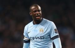 Meia do Manchester City Yaya Touré durante partida contra o Leicester City.   04/03/2015  Action Images via Reuters / Carl Recine Livepic