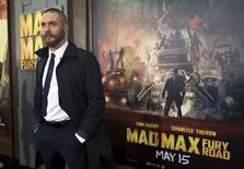 """Ator Tom Hardy na estreia do """"Mad Max"""" em Hollywood. 7/5/2015 REUTERS/Mario Anzuoni"""