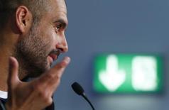 Técnico do Bayern de Munique, Pep Guardiola. 11/05/2015 REUTERS/Michaela Rehle