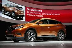 The 2015 Nissan Murano crossover vehicle is seen in its North American debut at the Los Angeles Auto Show in Los Angeles, California November 20, 2014.   REUTERS/Lucy Nicholson