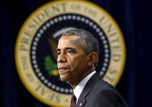 Presidente dos EUA, Barack Obama, na Casa Branca. 11/05/2015 REUTERS/Kevin Lamarque