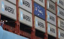Navio da Maersk em porto de Cingapura. 27/09/2013  REUTERS/Edgar Su