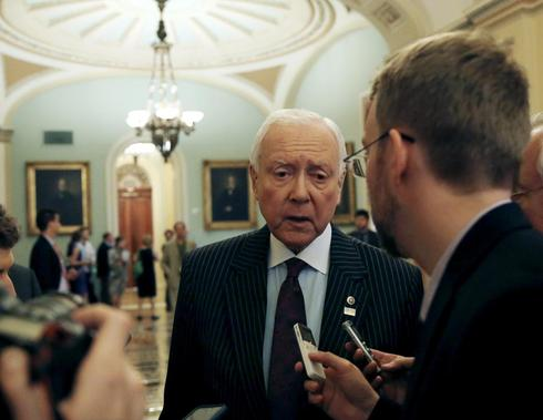Senator vows to stay as long as it takes for fast-track trade bill