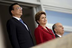 Premiê da China, Li Keqiang, e presidente Dilma Rousseff no Palácio do Planalto. 19/05/2015 REUTERS/Ueslei Marcelino