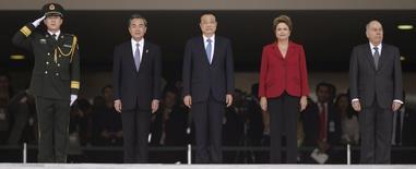 Premiê chinês, Li Keqiang, e presidente Dilma Rousseff no Palácio do Planalto. 19/05/2015 REUTERS/Ueslei Marcelino