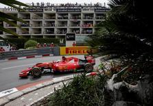 Sebastian Vettel of Ferrari during practice before qualifying. Formula One - F1 - Monaco Grand Prix 2015 - Circuit de Monaco, Monte Carlo - 23/5/15. Reuters / Max Rossi