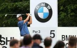 South Korea's Byeong Hun An in action during the final round. BMW PGA Championship - Virginia Water, Surrey, England - 24/5/15. Action Images via Reuters / Paul Childs Livepic